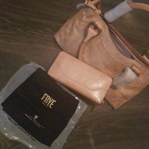 Frye purses includes wallet and tote protector